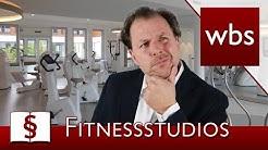 Jura Basics: Fitnessstudio - Alles zur Kndigung, den AGB und eigenen Getrnken| Kanzlei WBS