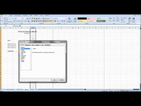 Creating Management Accounts using Excel #2 - Profit and Loss Statement