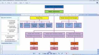 Membuat struktur organisasi menggunakan SmartArt pada Ms.Word