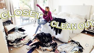 EXTREME closet declutter & clean in quarantine!!