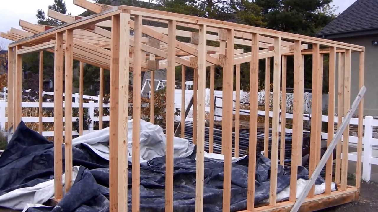 Building A Garden Shed Part I Youtube
