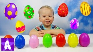 Funny Alex Learns Colors with Surprise Eggs