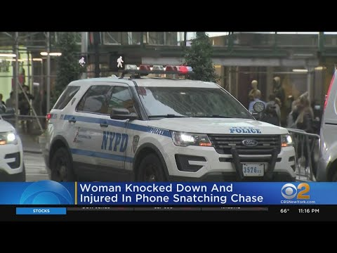 Woman Knocked Down, Injured In Phone Snatching Chase