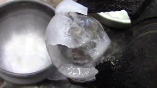 Super Cooled Nickel Ball in Hot/Cold Water