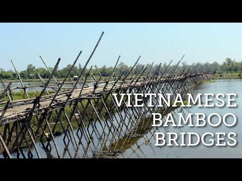 Amazing Bamboo Bridge in Vietnam