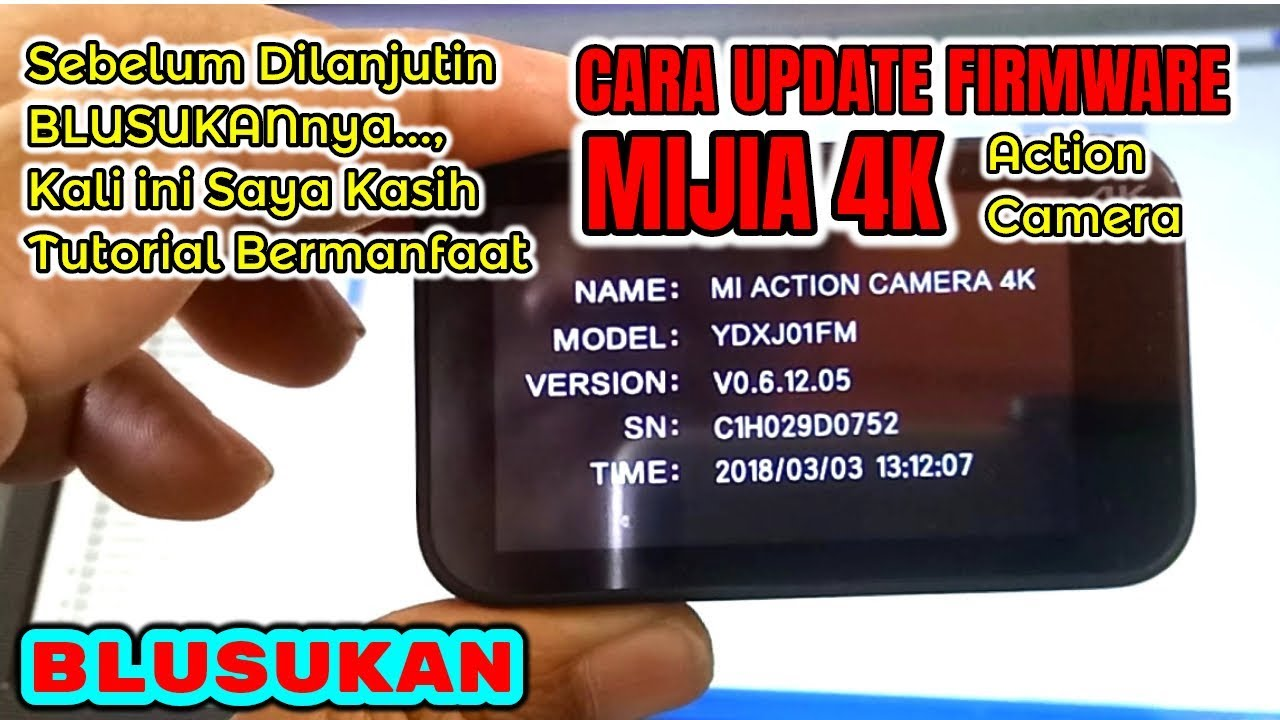 Tutorial How to Update (Upgrade) Latest Firmware MIJIA 4K (Action Camera)  by Blusukan Smart TV