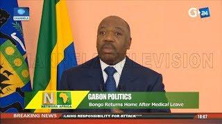 Gabon Politics: Bongo Returns Home After Medical Leave |Network Africa|