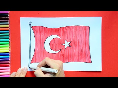 How To Draw The National Flag Of Turkey