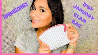 JANUARY IPSY GLAM BAG UNBAGGING   2019   BEAUTY   FIRST BAG