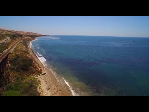Drone Footage Shows Oil Spill at Refugio, California - May 20