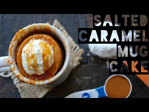 1 Minute Salted Caramel Mug Cake Recipe   How To Make a Healthy Salted Caramel Mug Cake