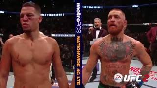 UFC 202: Conor McGregor and Nate Diaz Octagon Interviews