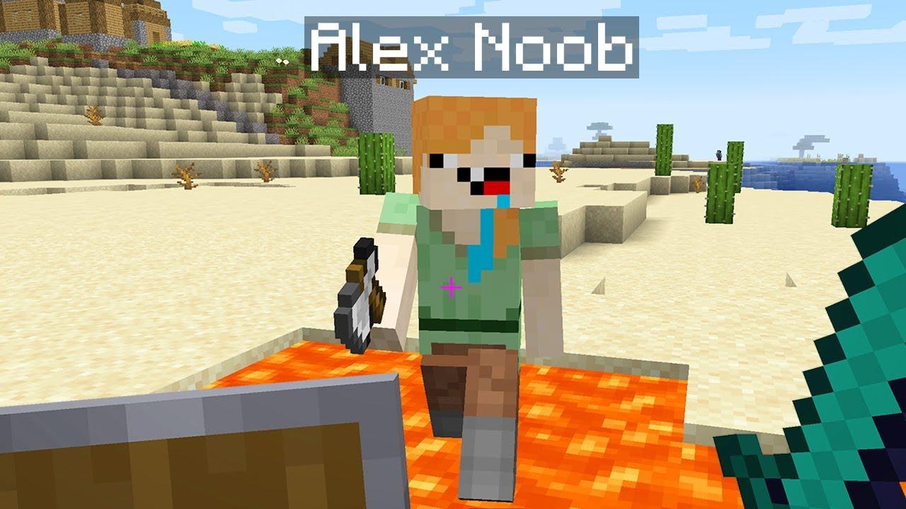 Cursed minecraft - Noob Alex WHAAAT? Wrong Minecraft