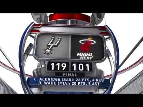 San Antonio Spurs vs Miami Heat   February 9, 2016   NBA 2015-16 Season