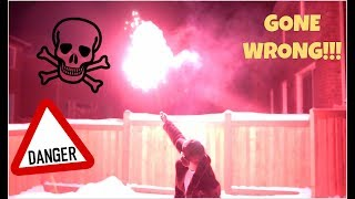 WE MADE HOMEMADE FIREWORKS FOR NEW YEARS! *gone wrong*