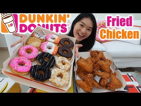 DUNKIN' DONUTS & FRIED CHICKEN • Mukbang • Eating Show