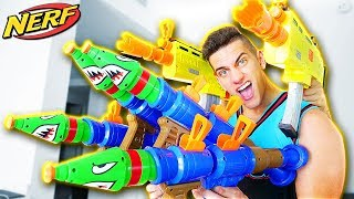 NERF FORTNITE ROCKET LAUNCHER vs FORTNITE SCAR in REAL LIFE! ($10,000 CHALLENGE with PUPPY)