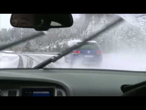 Touareg R50 racing @ Racetrack in Heavy Snowfall !!!