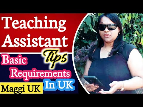 Teaching Assistant Course In UK|Basic Requirements|Role|Skills|Qualification Needed |Jobs|Salary|TA