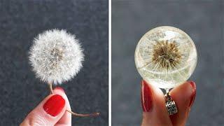 10 идей Одуванчик в смоле Сухие цветы Мини бутылочки Эпоксидная смола Легко и просто