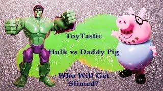 PEPPA PIG Nickelodeon Peppa Pig Vs Marvel Incredible Hulk Playing ToyTastic Game Show Parody