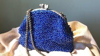 Вязанные сумочки из бисера, вышивка люневильским крючком.