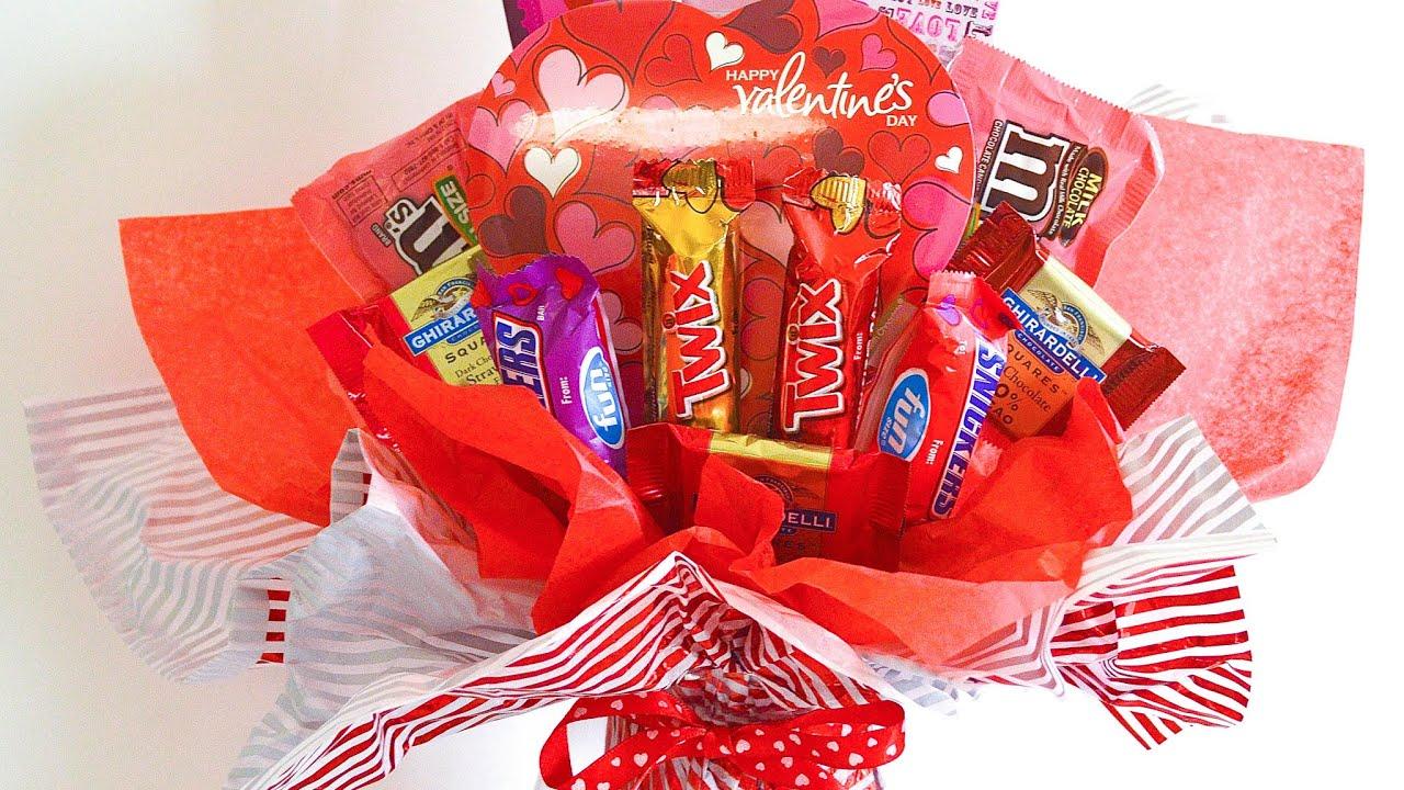 Valentine Candy Bouquet Tutorial   YouTube