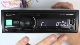 AUX | FM Тюнер Автомагнитола Alpine UTE 81R. Видеообзор avtozvuk.ua