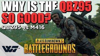 TEST: Why is the QBZ95 SO GOOD? (In depth QBZ vs M416 comparison) - PUBG