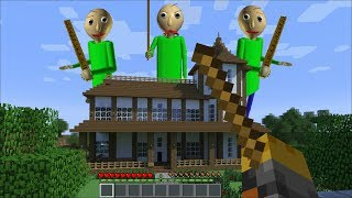 GIANT BALDI APPEARS IN MY HOUSE IN MINECRAFT!! DANGEROUS MONSTER ENCOUNTER!! Minecraft Mods