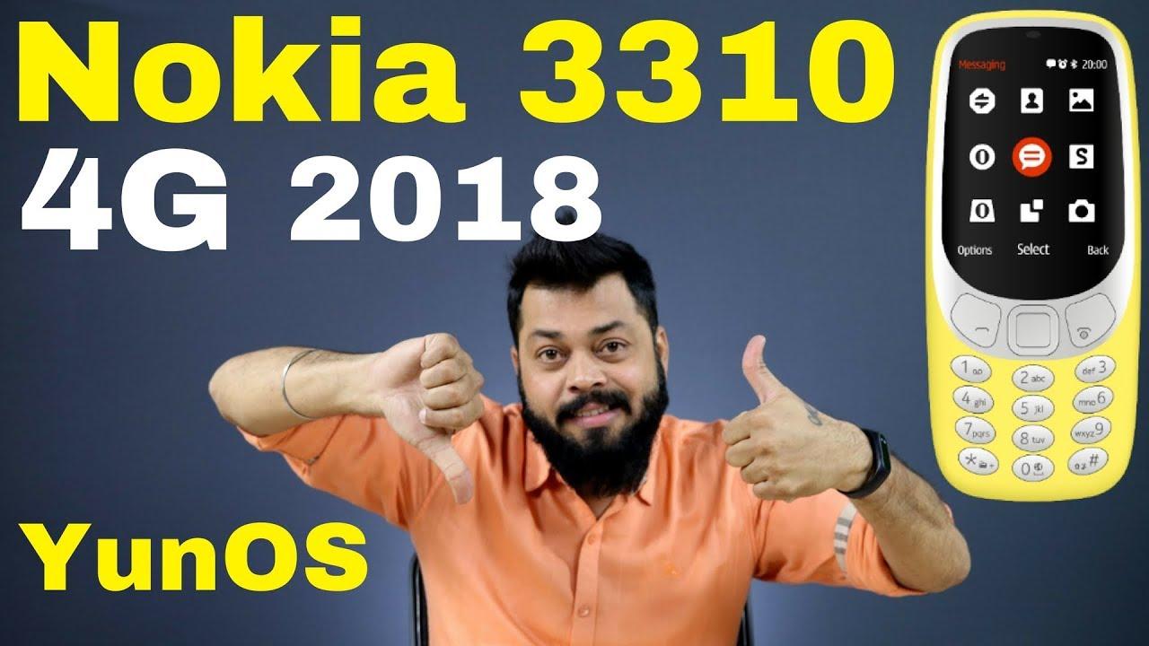 NOKIA 3310 4G - Jio Phone Comparison, YunOS Details, WhatsApp Facebook  Support