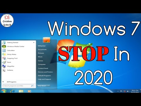 [हिंदी मै]Windows 7 support services ends in 2020 ! - Creation  SciTech(Praful Tarale)