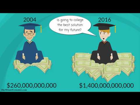 The Economics of Going to College and Getting Student Loans in One Minute