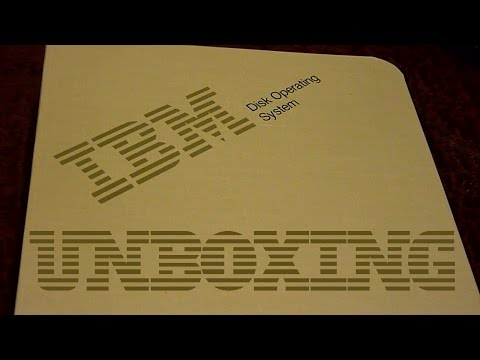 IBM PC-DOS 4.0 Unboxing