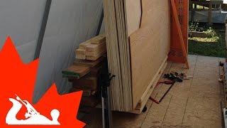 Minimalist Lumber Storage Cart