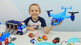Робокар Поли и Даник - Самолёт перевозчик КЭРИ из команды Марка и Баки. Хорошие Игрушки для детей