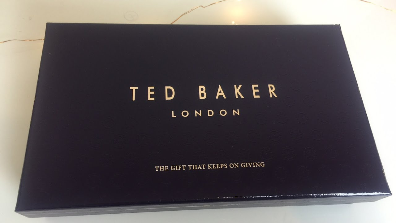 2163a3dedd0004 Ted Baker Leather Wallet and Card Holder Box Set Unboxing - YouTube