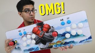 UNBOXING & LET'S PLAY - PANDORA 5S - 999 in 1 Video Games Arcade Console Machine