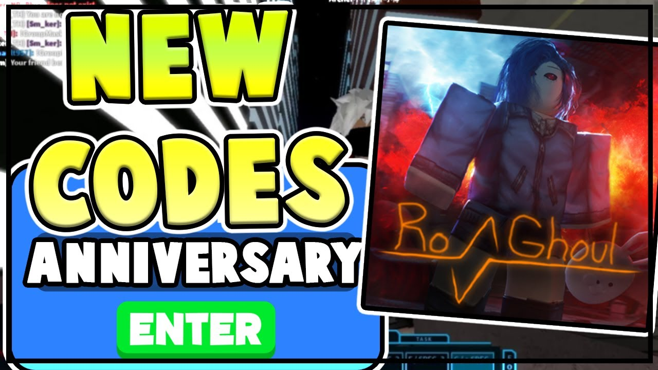 New Ro Ghoul Codes 2 Year Anniversary Free Yen Rc All New Ro