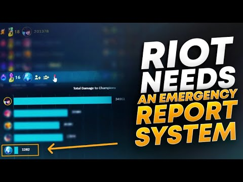 LEAGUE NEEDS AN EMERGENCY REPORT SYSTEM | League of Legends thumbnail