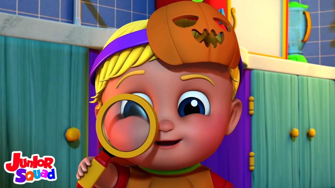 Siapa yang mengambil barang | Lagu halloween | Bayi sajak | Junior Squad Indonesia | Prasekolah