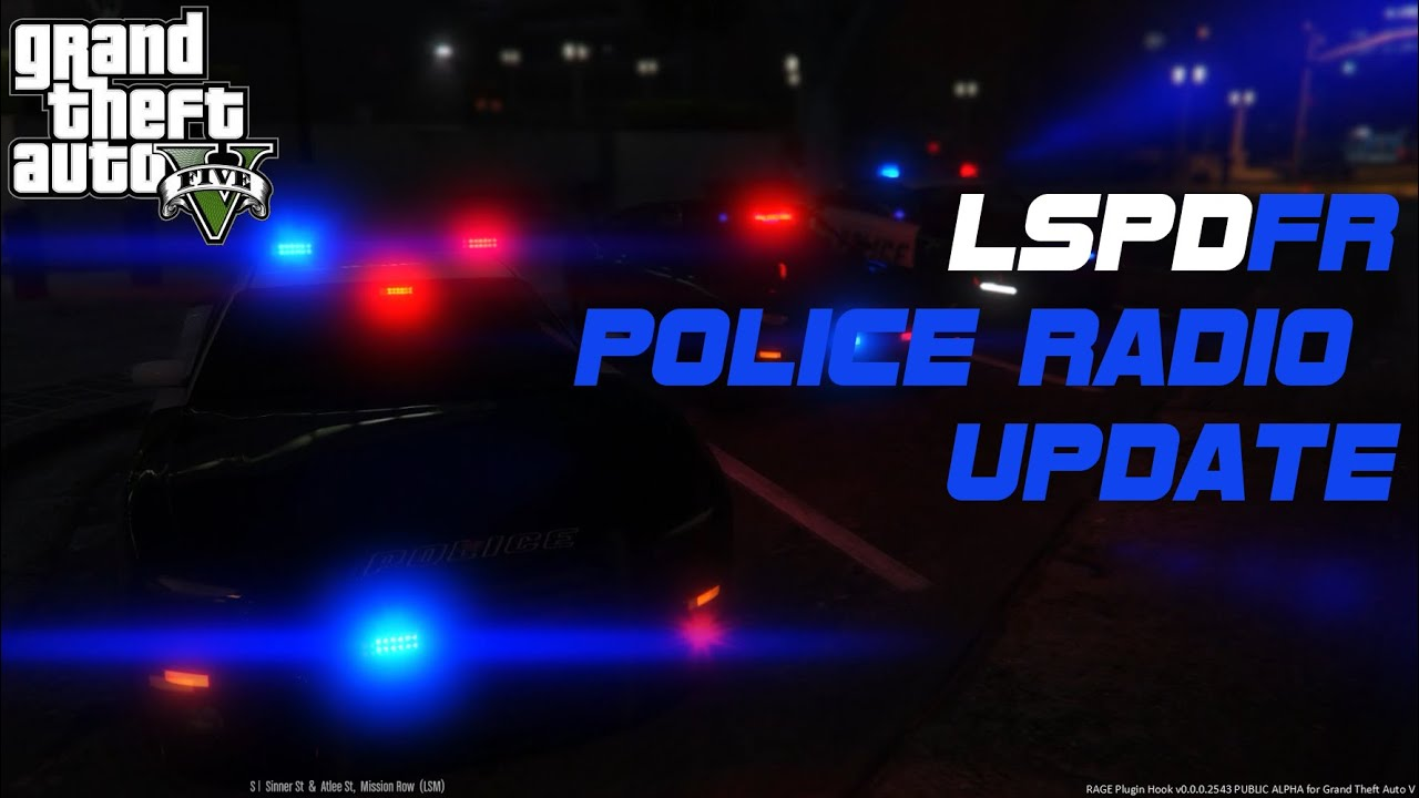 LSPDFR Police Radio Mod Update #3 GTA 5 PC MODS [ Cop Mod - Playing As A  Police Addon ]