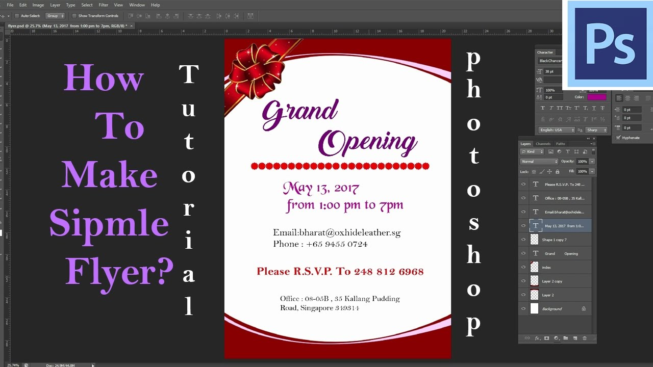 how to make a simple flyer