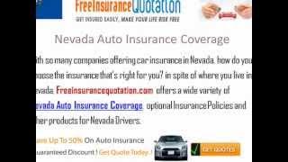 Nevada Auto Insurance Company - Cheap Nevada Auto Insurance