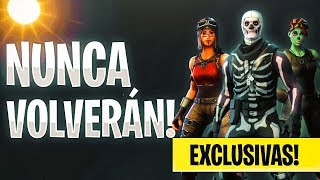 15 SKINS THAT WILL NEVER RETURN TO FORTNITE BATTLE ROYALE! @AntavoxYT
