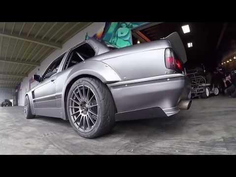 BMW E30 1000+hp crazy donuts & crazy turbo sound