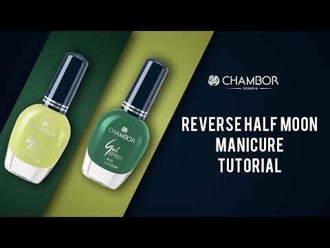 Reverse Half Moon Nails Tutorial