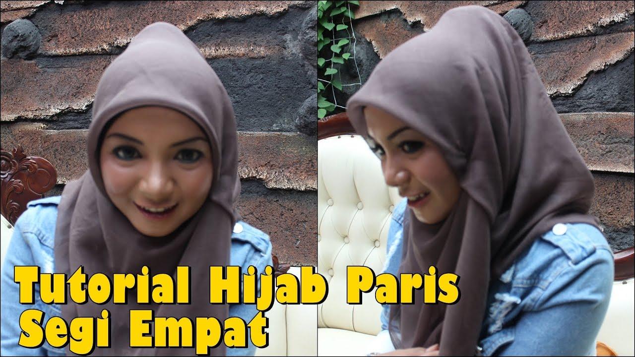 Tutorial Hijab Paris Segi Empat Modern Yang Simple Untuk Sehari