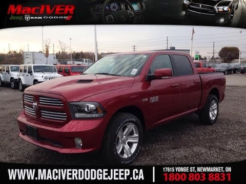 2014 red ram 1500 sport crew cab newmarket ontario maciver dodge jeep - 2014 Dodge Ram 1500 Lifted Red