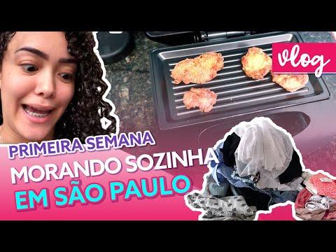 PRIMEIRA SEMANA MORANDO SOZINHA EM SÃO PAULO - VLOG PART 1